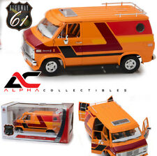 PRE-SALE HIGHWAY 61 18012 1:18 1976 CHEVROLET G-SERIES CUSTOM VAN ORANGE