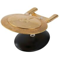 Eaglemoss U.S.S. Enterprise (NCC-1707-D) Gold Model Starship 20 W/ Magazine