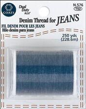 New!! Coats & Clark Extra Strong Denim Thread For Jeans 250 Yards - Denim Blue
