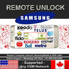 Samsung Galaxy S5 S6 Note 3 4 Tab 3 4 T-MOBILE AT&T UNLOCK CODE SERVICE *REMOTE*