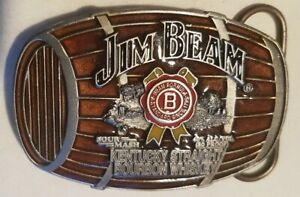 Buckle Gürtelschliesse/ Jim Beam Barrel / braun / Siskiyou / USA 1998