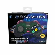RETRO-BIT OFFICIAL SEGA SATURN WIRELESS CONTROLLER WITH BLUETOOTH (GREY/CLEAR)