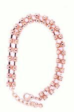 Molto carino rosy color oro braccialetto di cristallo