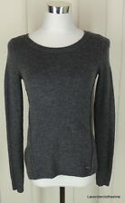 Abercrombie & Fitch Womens XS Pull Over Sweater Dark Gray Crew Neck