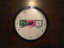Peace Love Science Classroom Clock