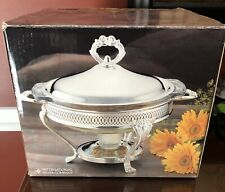 New listing International Silver Company Vintage Silver Plated Warmer Chafing Dish