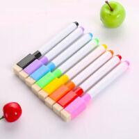 8 colour set magnetic white board marker pens, dry erase eraser, easy whiteboard