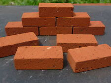 10 1:6th REAL BRICK Red Miniature Modelling Bricks