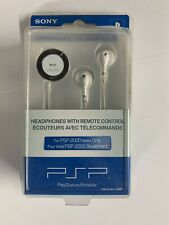 SONY PSP-2000 Series Only PlayStation Portable Headphones w/Remote Control-NEW