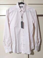 DOLCE & GABBANA Italy GOLD Mens Button Down Long Sleeve Shirt Pink Stripe 16 41