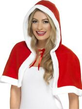 MISS CLAUS CAPE LADIES FANCY DRESS SANTA CLAUS ACCESSORY