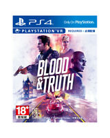 Blood &Truth Sony PlayStation PS4 PSVR 2019 English Chinese Factory Sealed