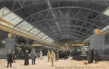 Southern Pacific Terminus, Oakland Pier, CA Train Station 1910s Vintage Postcard