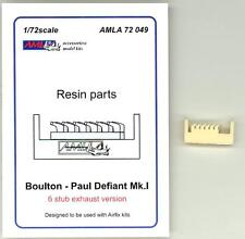 AML Models 1/72 BOULTON PAUL DEFIANT Mk.I STUB EXHAUSTS Resin Correction Set