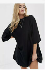 ASOS Design Oversized Tshirt Dress Black 8 BNWT