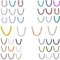 25pcs 10mm Faceted Rondelle Crystal Glass Loose Spacer Beads DIY Jewelry Making