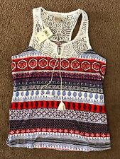 New! Women's Lucky Brand Crochet Top Camisole Size S $44