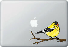 """CLR:MB - Goldfinch Bird Stained Glass Vinyl Laptop Decal ©YYDC (MD 7""""w x 4"""