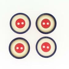 set of 4 red white blue plastic buttons 22.5mm 23mm buttons classic design
