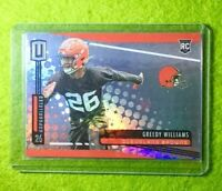GREEDY WILLIAMS ROOKIE CARD JERSEY #26 PRIZM REFRACTOR BROWNS  2019 Unparalleled