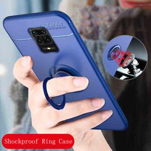 Für Xiaomi Redmi Note 9S Handyhülle Soft Silikon Case Cover Ring Halter Schale