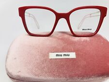 a47dff83db26 New Authentic Miu Miu VMU02P USL-101 Shiny Red   Gold Eyeglasses 49mm with  Case
