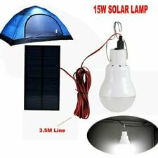 Led Solar Powered Light Bulb 15W Tent Camping Lamp Rechargeable Indoor Outdoor