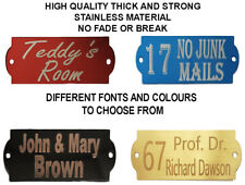 Personalised Metal House Home Door Wall Display Sign Plaque Plate Number Name