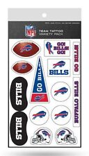 Buffalo Bills Team Tattoo Variety Pack Sheet Temporary Decal New Full Color Logo