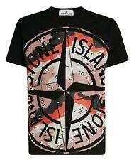 STONE ISLAND Desert Camo Logo T-Shirt Black Size Medium