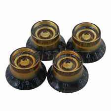 4piece Plastic Speed Plastic Control Bell Knob for Electric Guitar Black