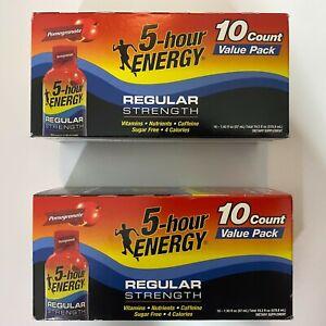 5 Hour Energy Shot Regular Strength Pomegranate Flavor 20 bottles