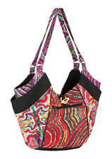 New Large Hippie Tote Bag Colourful Screen Printed Shoulder Bag