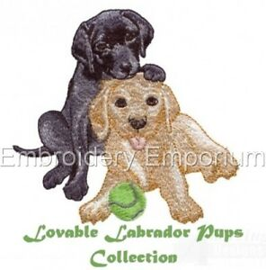 LOVABLE LABRADOR PUPS COLLECTION - MACHINE EMBROIDERY DESIGNS ON CD OR USB