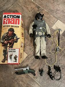 Vintage Action Man 1994 Pawtucket With Complete Uniform and palitoy box