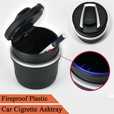 1x New Black Fireproof Plastic Double-layer Ashtray Ash Storage Cup For Car SUV