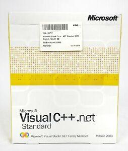 Microsoft Visual C++ .net Standard Visual Studio Version 2003 One User NEW