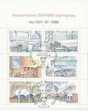Finland 1986 Used Booklet - New Finnish Architecture - First Day Cancel