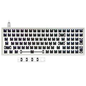 GK96X HOT SWAPPABLE CUSTOM MECHANICAL KEYBOARD KIT SUPPORT RGB SWITCH LEDS