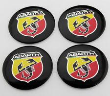 4x 56mm ABARTH ALUMINIUM Radkappen Aufkleber Emblem Felgenaufkleber für Racing