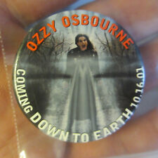 "Ozzy Osbourne Coming Down to Earth 10/16/2001 1.25"" Pin Pinback Button Ozzie"
