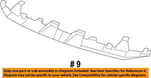 Dodge CHRYSLER OEM 07-11 Nitro Bumper Face-Foam Impact Absorber Bar 68003825AB