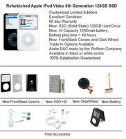 128GB / 120GB SSD Custom Refurb Apple iPod Video 5th Gen Mint Cond Multi Color