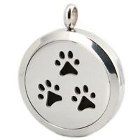 Pet Dog Paw Aromatherapy Essential Oil/Perfume Diffuser Locket Pendant Necklace