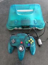 *AUS SELLER* Nintendo 64 Ice Blue And Console Controller With Cords n64 (2)