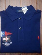 Polo Ralph Lauren Men's R.L. & CO Navy Mesh Cotton Polo Shirt New Big & Tall LT