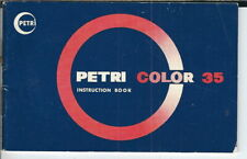 Ab-182 Petri Color 35 Instruction Book (Book Only), 1960's Original