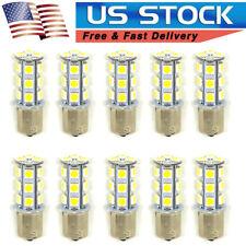 10 X White 1156 BA15S 18 SMD 5050 LED Light bulbs Turn Signal Brake Reverse 12V