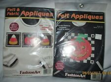 Felt & Fabric Halloween fall pumpkins appliques for decor clothing kits lot of 2