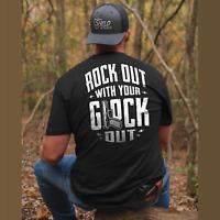 Rock Out With Your Glock Out 2nd Amendment Men T Shirt Cotton S-5XL Black